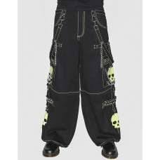 Super Skull Bondage Pants - Lime Green