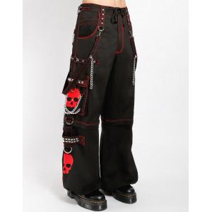 Super Skull Bondage Pants - Red