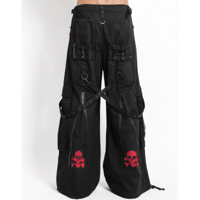 Back Up Skull Bondage Pants - Red