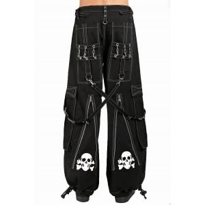 Back Up Skull Bondage Pants - White