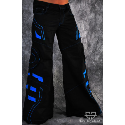 Blue Tron Pants