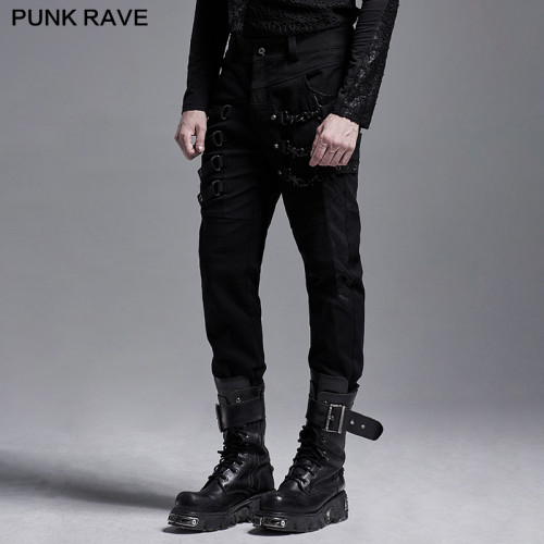 Punk Rave Slim Strap Pants