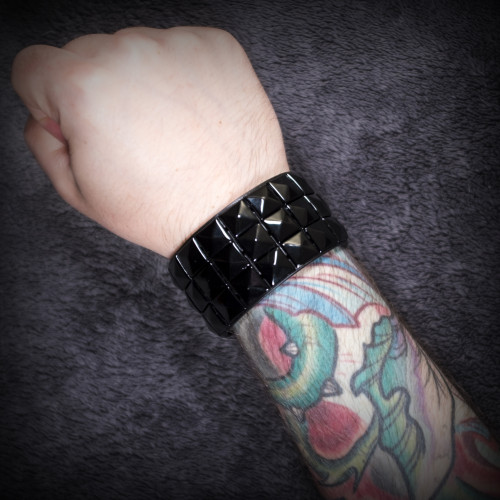 Black Studded Wristband