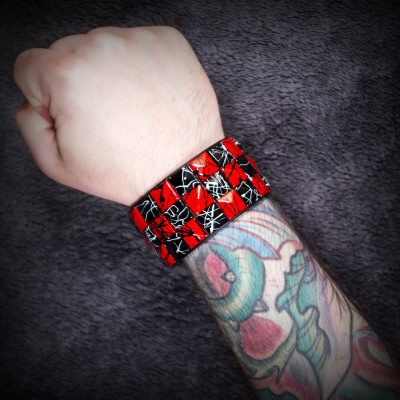 Red and Black Checkered Wristband