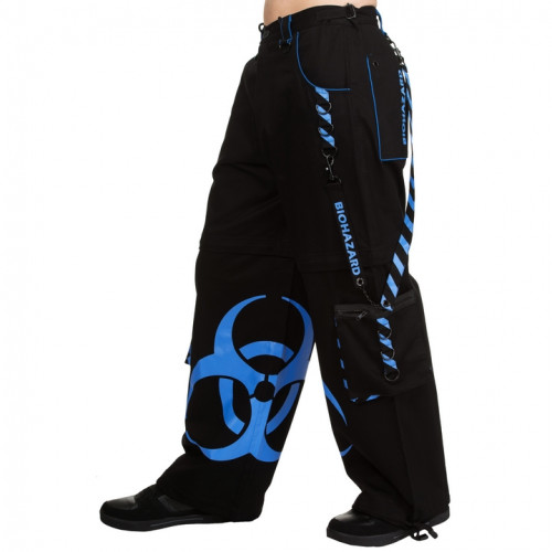 Blue Biohazard Wide Pants