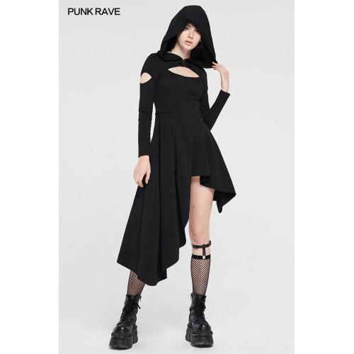 Punk Rave Hooded Asymmetric Dress