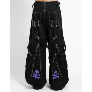 Back Up Skull Bondage Pants - Purple