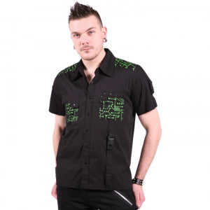 Circuit Button-Down Shirt - Green