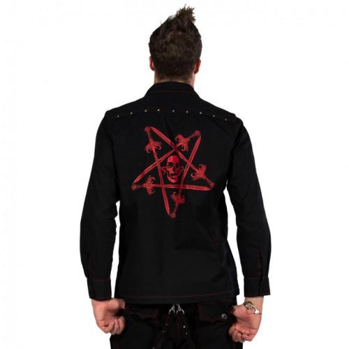 Pentagram and Skull Shirt - Red