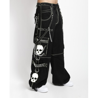 Super Skull Bondage Pants - White